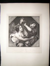 After Carlo Cignani C1840 LG Folio Print. Joseph and Portiphar's Wife